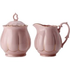Набор: сахарница + молочник Maxwell & Williams Свежее дыхание розовый (MW580-QV6703)