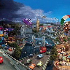Фотообои Disney Cars World (3,68х2,54 м)