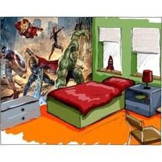Фотообои MARVEL Avengers Street Rage 368 х 254см.