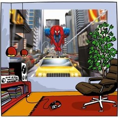 Фотообои MARVEL Spider-Man Rush Hour 184 х 127см.