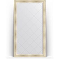 Зеркало напольное с гравировкой поворотное Evoform Exclusive-G Floor 114x204 см, в багетной раме - травленое серебро 99 мм (BY 6368)
