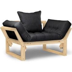 Кресло Anderson Амбер сосна-черная рогожка.