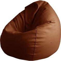 Кресло-груша Папа Пуф Экокожа коричневый