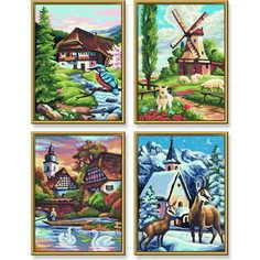 Раскраска по номерам Schipper Времена Года 4 картины 9340552
