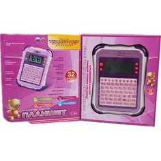 Joy Toy Планшет русско - английский, 32 функции, розовый 7176