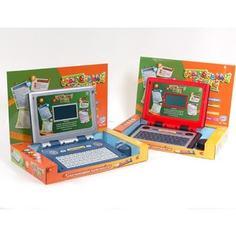 Joy Toy Компьютер 7038 Маленький гений обучающий, с мышкой, на батарейках, в коробке 36х23х6см
