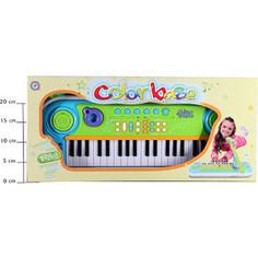 Музыкальный инструмент Potex на батар Синтезатор с микрофоном Color Base 37 клав арт 657B
