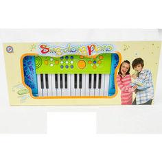Музыкальный инструмент Potex на батар Синтезатор Sing-Along Piano 25 клав арт 539A-blue