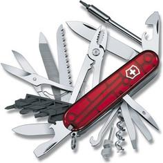 Нож перочинный Victorinox CyberTool 41 1.7775.T (91мм, 41 функция полупрозрачный, красный)