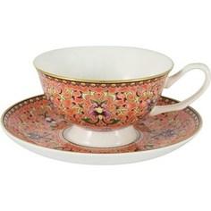 Чашка с блюдцем Anna Lafarg Stechcol Восточный дворец оранжевая (AL-13861-PIN-CS-ST)