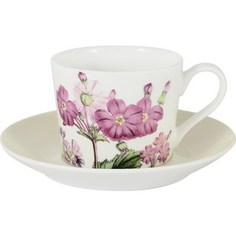Чашка с блюдцем Anna Lafarg Stechcol Лаура кремовая (AL-17821D-CRE-TCS-ST)