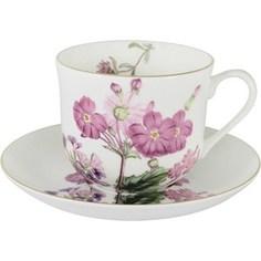 Чашка с блюдцем Anna Lafarg Stechcol Лаура розовые цветы (AL-17821-D-BCS-ST)