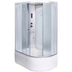 Душевая кабина Aqualux MODO 130х85х215 левая, матовое стекло, заднее стекло белое (AQ-4073GFL-Wh)