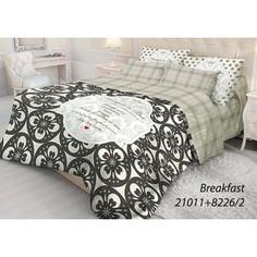 Комплект постельного белья Волшебная ночь Евро, ранфорс, Breakfast с наволочками 50x70 (702118)