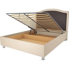 Кровать OrthoSleep Калифорния бисквит-шоколад механизм и ящик 200х200