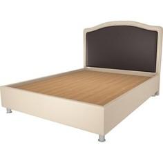 Кровать OrthoSleep Калифорния бисквит-шоколад жесткое основание 160х200