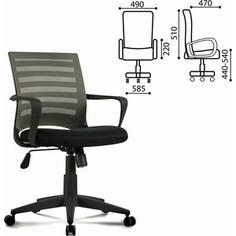 Кресло оператора Brabix Carbon MG-303 с подлокотниками черное/серое 530869