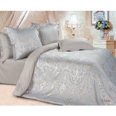 Комплект постельного белья Ecotex Евро, сатин-жаккард, Глейс (КЭЕГлейс)