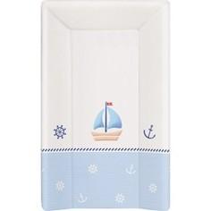 Матраc пеленальный Ceba Baby 70 см с изголовьем на кровать 120*60 см Marine white-blue W-201-010-009