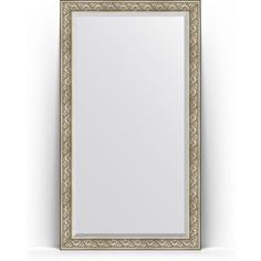 Зеркало напольное с фацетом поворотное Evoform Exclusive Floor 115x205 см, в багетной раме - барокко серебро 106 мм (BY 6174)