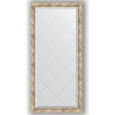 Зеркало с гравировкой поворотное Evoform Exclusive-G 73x155 см, в багетной раме - прованс с плетением 70 мм (BY 4263)