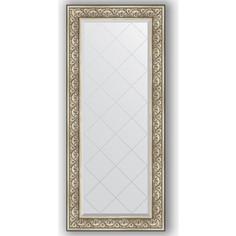 Зеркало с гравировкой поворотное Evoform Exclusive-G 70x160 см, в багетной раме - барокко серебро 106 мм (BY 4166)