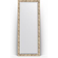 Зеркало напольное с фацетом поворотное Evoform Exclusive Floor 78x198 см, в багетной раме - прованс с плетением 70 мм (BY 6104)