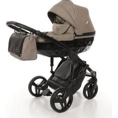 Детская коляска 2 в 1 Junama DIAMOND JD-04 (бежевый/черный короб)