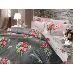 Комплект постельного белья Hobby home collection Семейный, поплин, Calvina, серый (1501000072)