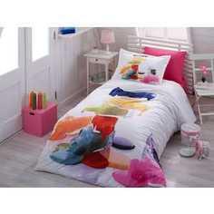 Комплект постельного белья Hobby home collection 1,5 сп, поплин, Rainbow, (1501000891)