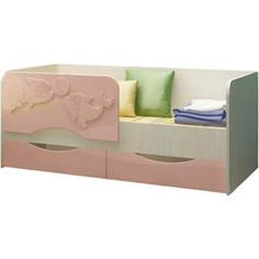 Кровать Регион 58 Дельфин 2 розовый МДФ 80x160