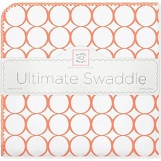Фланелевая пеленка SwaddleDesigns для новорожденного Orange Mod/WH (SD-022O)