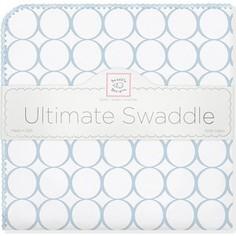 Фланелевая пеленка SwaddleDesigns для новорожденного Ultimate Blue Mod on WH (SD-022PB)
