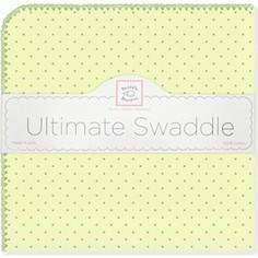 Фланелевая пеленка SwaddleDesigns для новорожденного Kiwi w/Kiwi Dot (SD-048KW)