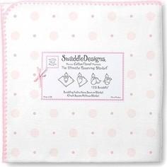 Фланелевая пеленка SwaddleDesigns для новорожденного Ultimate Pink Big Dot Lt Dot (SD-492P)