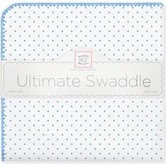 Фланелевая пеленка SwaddleDesigns для новорожденного Bt. Blue Polka Dot (SD-001B)