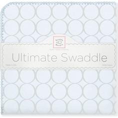 Фланелевая пеленка SwaddleDesigns для новорожденного Пастель круги голубая (SD-350SB)
