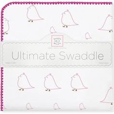 Фланелевая пеленка SwaddleDesigns для новорожденного Pink Chickies (SD-162P)