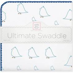 Фланелевая пеленка SwaddleDesigns для новорожденного Blue Chickies (SD-162B)