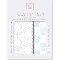 Набор пеленок SwaddleDesigns Swaddle Duo SeaCrystal Little Fox
