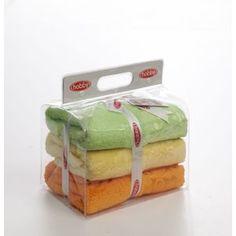 Набор из 3 полотенец Hobby home collection Dora 50x90 3 штуки желтый/оранжевый/зеленый (1501000444)