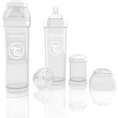 Twistshake Антиколиковая бутылочка для кормления 330 мл. Белая (780018)