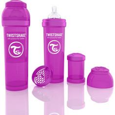 Twistshake Антиколиковая бутылочка для кормления 330 мл. Фиолетовая (780017)
