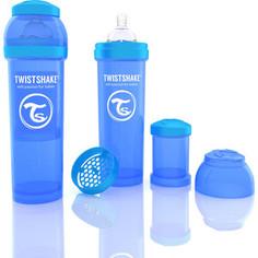 Twistshake Антиколиковая бутылочка для кормления 330 мл. Синяя (780014)