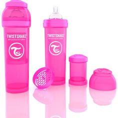 Twistshake Антиколиковая бутылочка для кормления 330 мл. Розовая (780013)