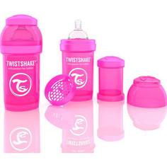 Twistshake Антиколиковая бутылочка для кормления 180 мл. Розовая (780001)