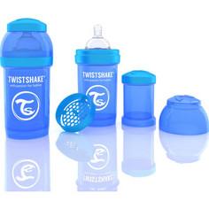 Twistshake Антиколиковая бутылочка для кормления 180 мл. Синяя (780002)