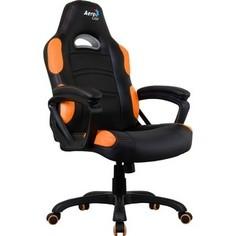 Кресло для геймера Aerocool AC80C AIR-BO черно-оранжевое с перфорацией