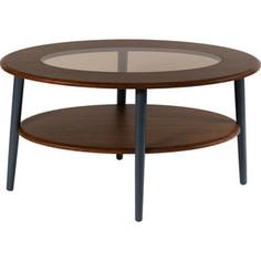 Стол журнальный Калифорния мебель Эль со стеклом СЖС-01 орех