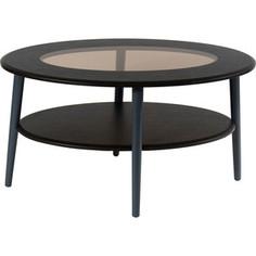 Стол журнальный Калифорния мебель Эль со стеклом СЖС-01 венге